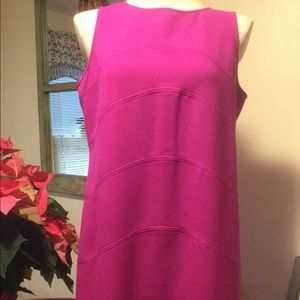 Magenta Calvin Klein sleeveless dress